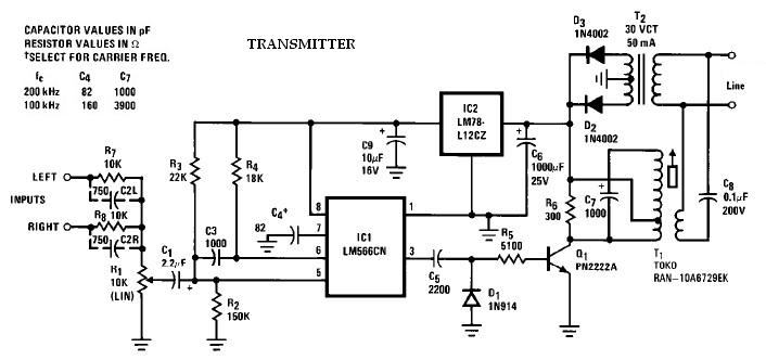 bluetooth transmitter circuit
