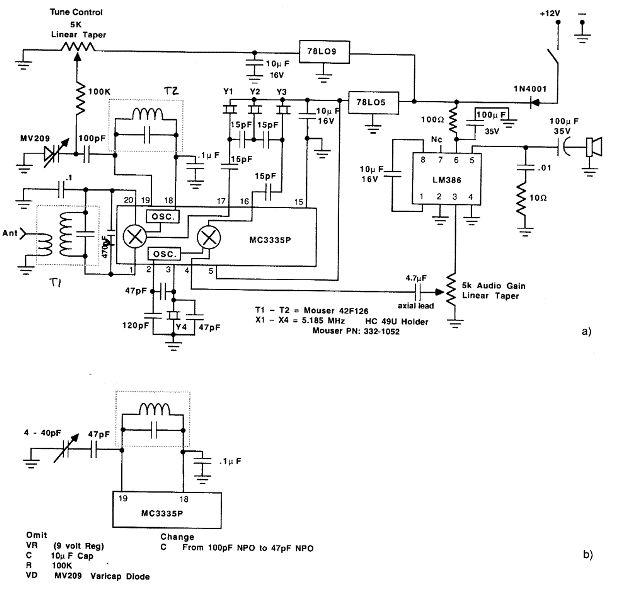 MC3335P SSB receiver circuitdiagram