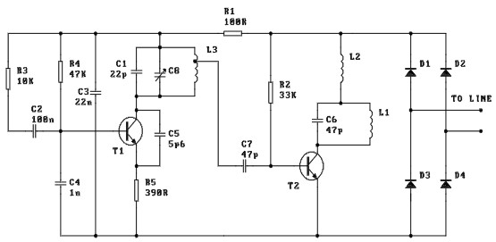 Phone FM Transmitter circuit diagram