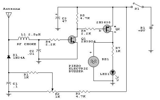 rf detector circuit diagram