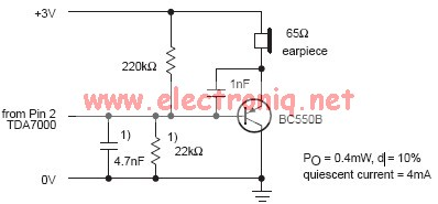 tda7000 af amplifier electronic schematic circuit