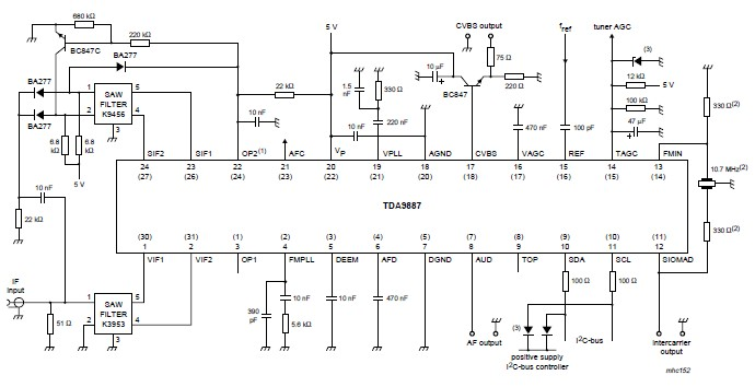 TDA9887 I2C-bus controlled multistandard alignment-free IF-PLL demodulator with FM radio