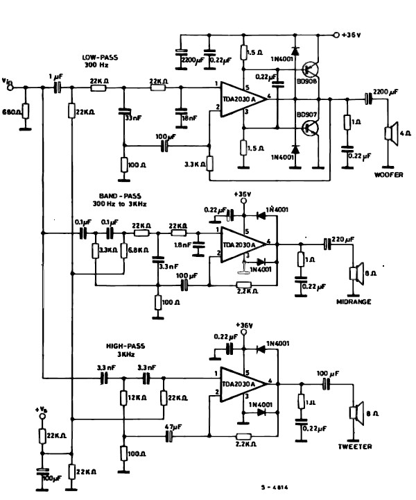 3 way speaker crossover wiring diagram