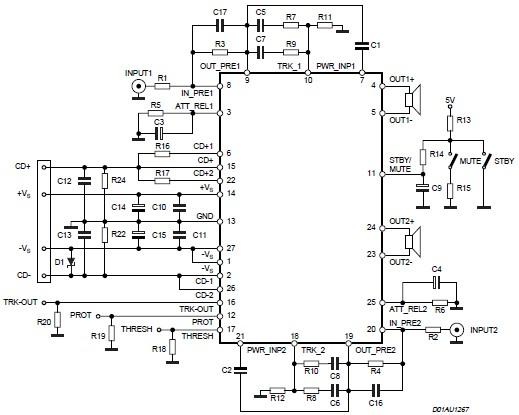 Sta550 70 70 Watts Audio Amplifier