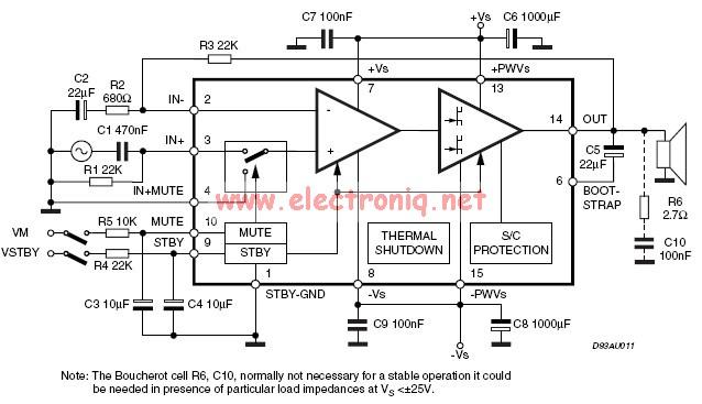 tda7296 audio amplifier 30w   60w maxim