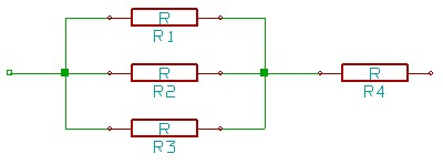 Series-Parallel resistor connection circuit