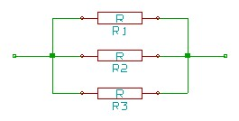 Parallel resistor connection circuit