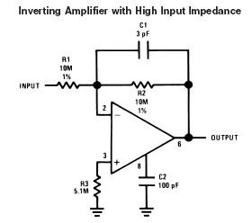 inverting-operational-amplifier-high-impedance-input