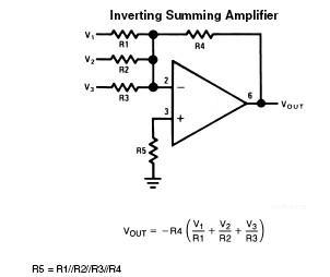 inverting-summing-operational-amplifier