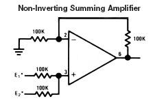 non-inverting-summing-operational-amplifier