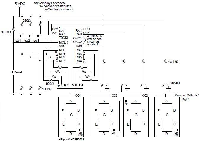 digital clock electronic project using pic16c54