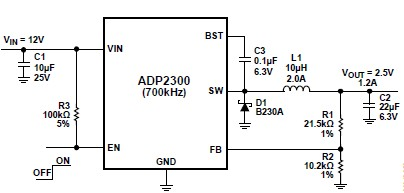 ADP2300 dc-to-dc regulators schematic circuit