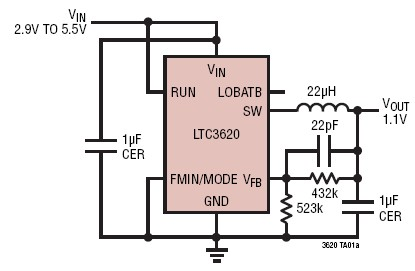 LTC3620 synchronous buck regulator