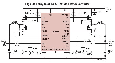 LTC3855 step-down switching regulator controller