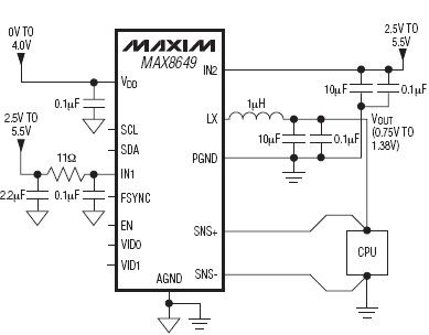 MAX8649 1.8A DC-to-DC step-down switching regulator