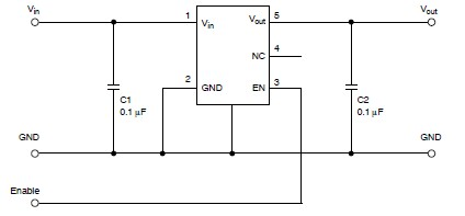 NCP571 , NCV571 low power regulator circuit