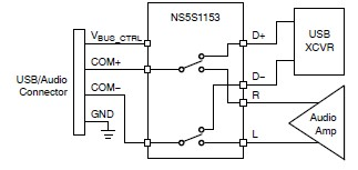 NS5S1153 Double Pole Double Throw Switch circuit diagram