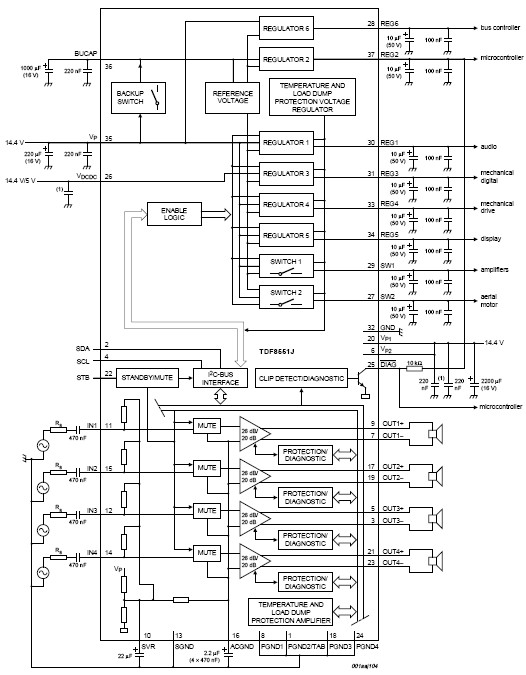TDF8551J-audio-amplifier circuit