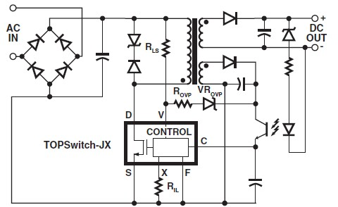 Power Integrations TOPSwitch-JX Family circuit diagram
