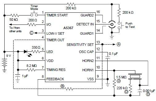 a5367 ionization smoke detector circuit diagram