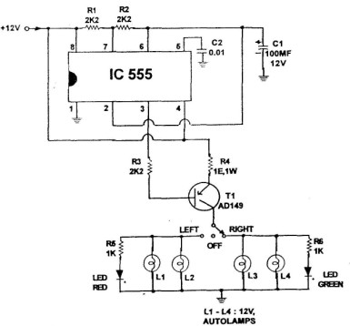 Lamp signalization circuit diagram