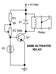 light activated relay schematic circuit