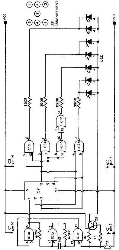 electronic dice schematic circuit electronic timer circuit diagram #14