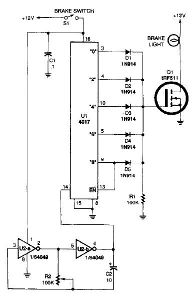 flash blinky lights circuit