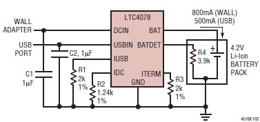 Lithium Ion Polymer electronic charger circuit diagram