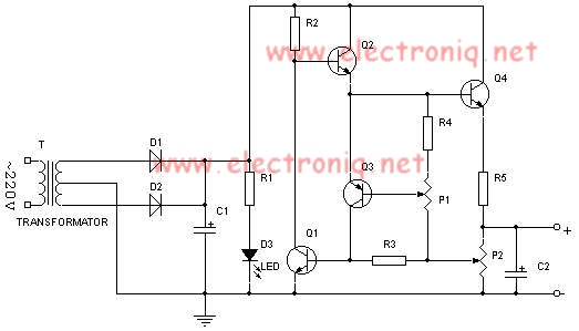 0.7-24V 2A power supply schematic circuit