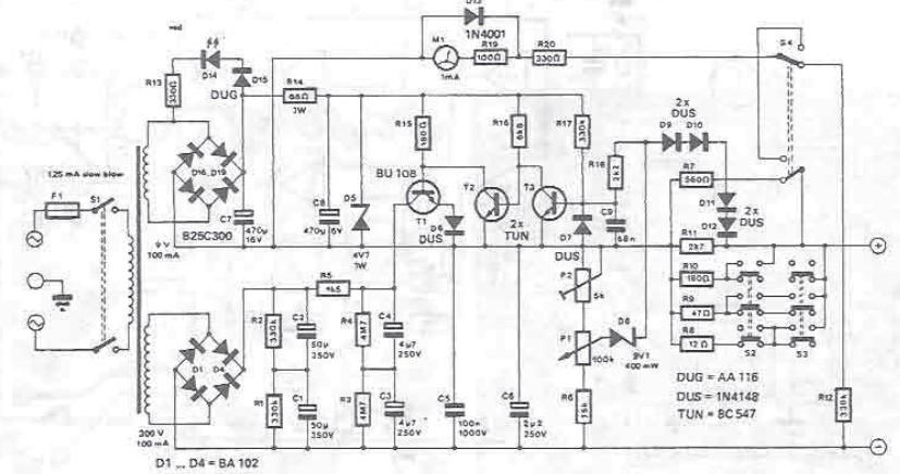 300V variable power supply circuit diagram