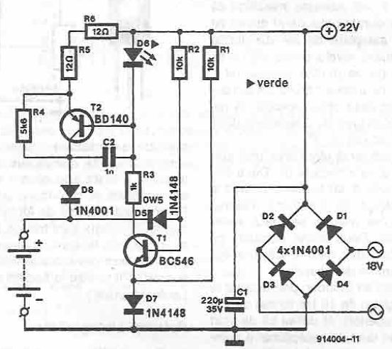 Charger for 12v battery circuit