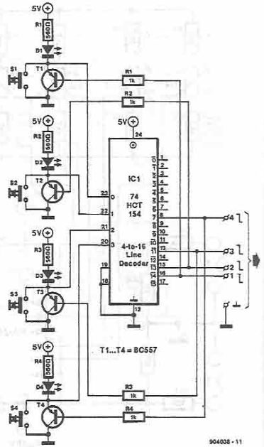 Electronic channel selector circuit diagram