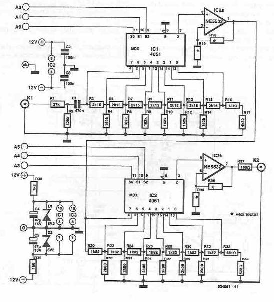 Digital circuit for volume control