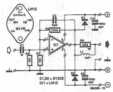 LM12 150W high power amplifier circuit diagram