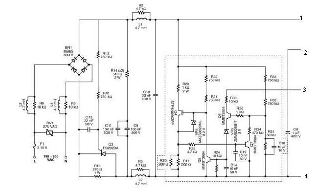LNK404EG led driver electronic project circuit design