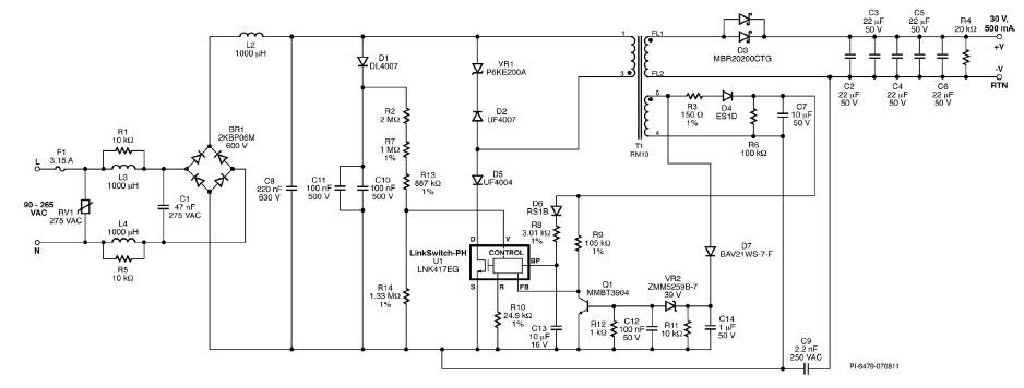LNK417EG 500mA led driver electronic project