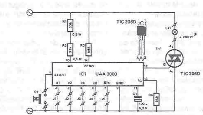 UAA3000 timing circuit electronic project