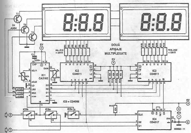 Panel voltmeter ammeter electronic project using CMOS