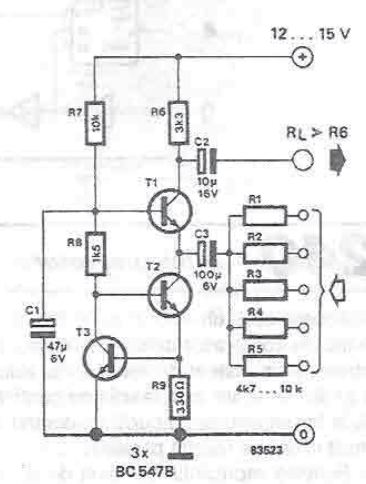 Audio mixer circuit diagram project using transistors