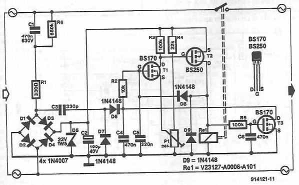 Connection delay circuit