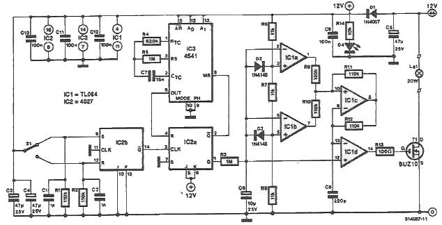 Halogen lamps driver circuit
