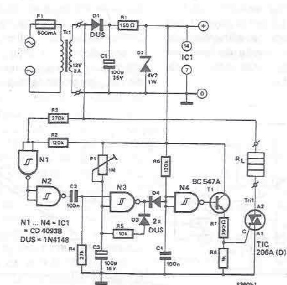 Hot wire thermocutter for polystyrene circuit diagram electronic project