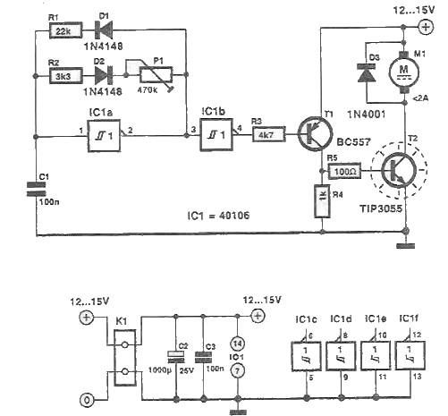 DC motor speed controller using PWM