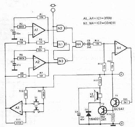 Logic tester circuit diagram