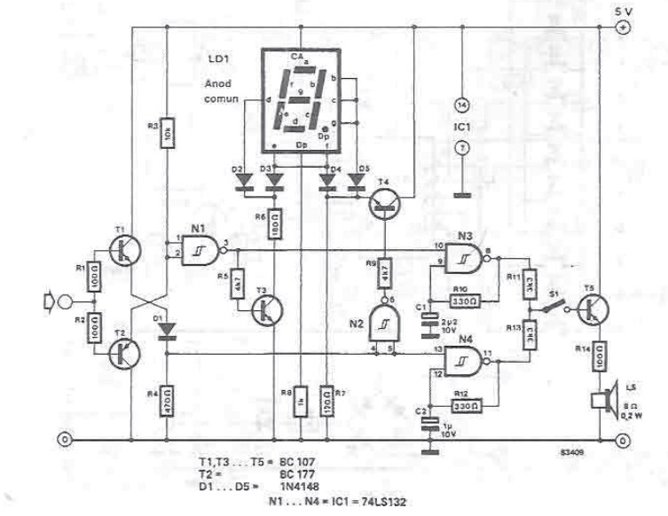 Logic tester circuit diagram