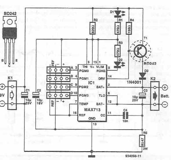 rapid charger circuit using max712, max713