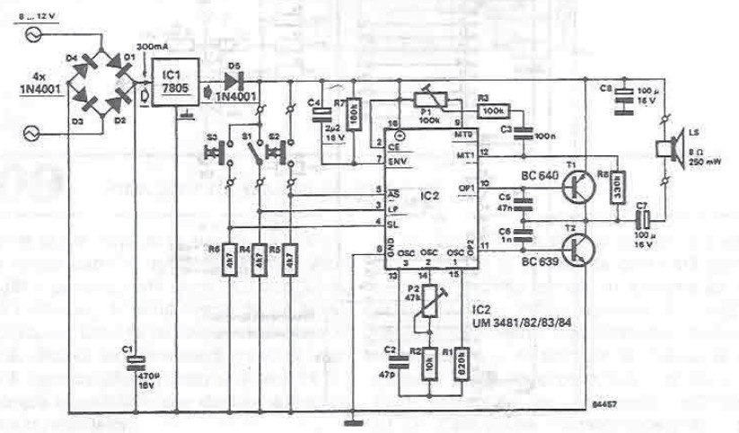Musical Bell Electronic Project Using Um3481
