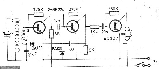 Long and medium wave radio receiver circuit diagram electronic project