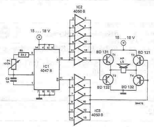 Simple rats repellent circuit electronic project